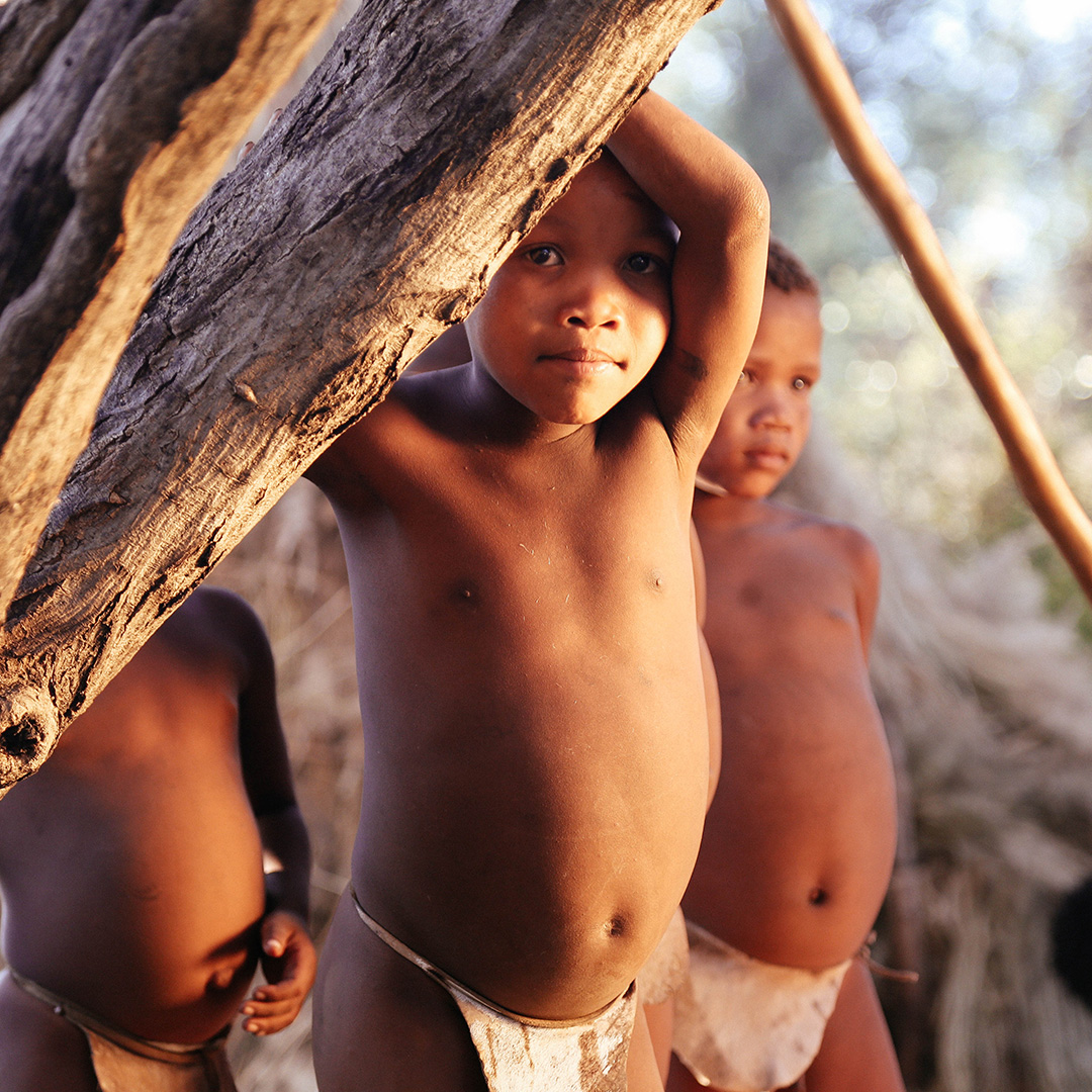 San people in Namibia
